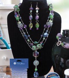 Create this beautiful botanical necklace, bracelet and earrings set!  #joannhandmade