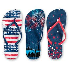 Americana print flip-flops!