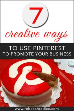 7 Creative Ways To Use Pinterest To Cross-Promote Your Business. Take a look at my free video of my awesome home business model and discover how you can get amazing commissions without ever having to pick up the phone yourself @ http://m0be.com/mark531/df14e773/pin