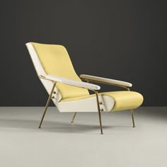Gio Ponti; #807 Brass 'Distex' Armchair for Cassina, 1953.