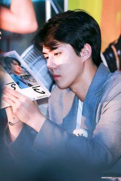 190818 Sehun EXO-SC Fansign Daejon || #EXO Kyungsoo, Hunhan, Exo Ot12, Chanyeol, Exo Kai, Sehun Cute, Daejeon, Exo Korean, Lord