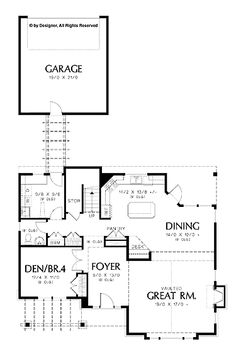 <3 Floor Plans AFLFPW26207 - 2 Story Craftsman Home with 4 Bedrooms, 2 Bathrooms and 2,441 total Square Feet