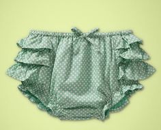 Green Dotted Ruffle Shorts from Baby Gap's Portmeirion Collection!