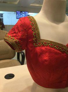 Kerala Saree Blouse Designs, Saree Blouse Neck Designs, Simple Blouse Designs, Bridal Blouse Designs, Designer Blouse Patterns, Blouse Models, Work Blouse, Dress, Embroidered Blouse