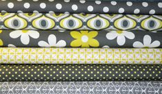 Michael Miller Fabrics  Citron Gray Fat Quarter