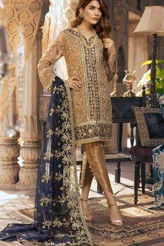 Maryam N Maria Chiffon Collection 2019 - Pakistani Dresses Pakistani Party Wear, Pakistani Dress Design, Pakistani Designers, Pakistani Suits, Pakistani Dresses, Indian Dresses, Indian Suits, Indian Wear, Pakistani Salwar Kameez