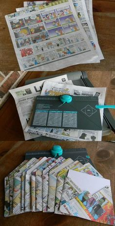 Recycle Newspaper Cartoons into Chic Envelopes