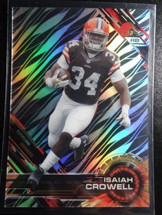 2015 Topps High Tek Grass Pattern #65 Isaiah Crowell Browns Football Card #ClevelandBrowns