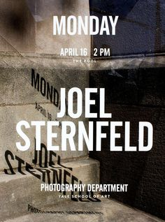 Yale School of Art (Dept of Photo) lecture poster by Jessica Svendsen. #photographic   3/3  via @wayneford