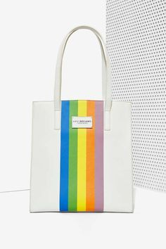 Chroma Striped Tote Bag is so bright and beautiful.
