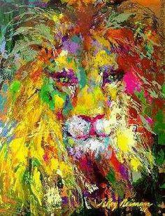 Lion. Beautiful colors.