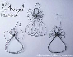 DIY Wire Angel Ornaments - made these with the kids and they turned out great!