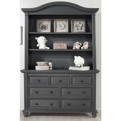 The Oxford Baby London Lane Hutch fits on top of the London Lane 7 Drawer Dresser (sold separately) in Arctic Gray. The London Lane Hutch is constructed of American poplar hardwood and veneers and can be used with London Lane dresser for attractive storage. This makes a great bookcase for an older child.<br><br>The Oxford Baby London Lane Hutch - Arctic Gray Features:<br><ul><li>Ageless, lifestyle nursery pieces that grows with your child.</li><br><li>Sturdy design.</li><br><li>Fits on…