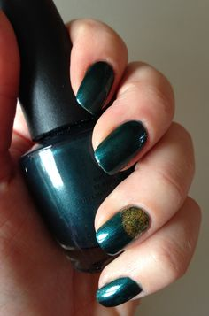 Cuckoo For This Color by OPI: A dusty dark teal shade that has a scattering of bright blue micro-glitter. New $4.00