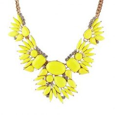 Trendy Candy Color Pendant Necklace For Women
