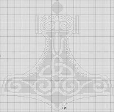 Free Thor's Hammer Cross Stitch Pattern
