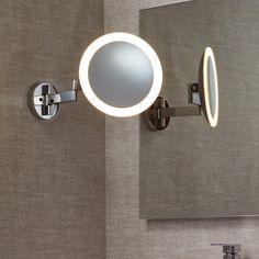 Edit Beauty Illuminated Swing Arm Magnifying Mirror Light