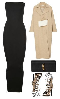 Untitled #3840 by fashionhypedaily on Polyvore featuring Wolford, Rejina Pyo, Giuseppe Zanotti and Yves Saint Laurent