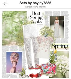 Spring trends #spring #polyvore #fashion #lace #floral