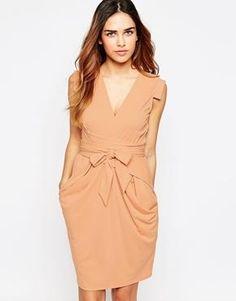 ASOS Crepe Dress with Obi Wrap