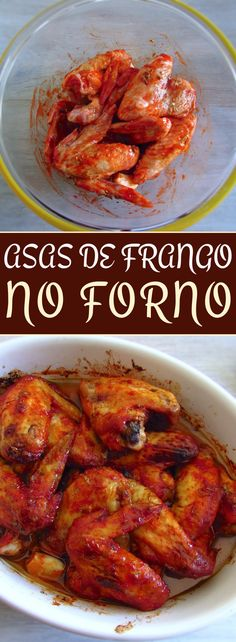 If you want to prepare a meal in the oven, this recipe of chicken wings seasoned with delicious spices is perfect for you. It's a simple recipe that. Meat Recipes, Chicken Recipes, Cooking Recipes, Recipe Chicken, Chicken Wing Seasoning, Portuguese Recipes, Portuguese Food, Wings In The Oven, Food Website