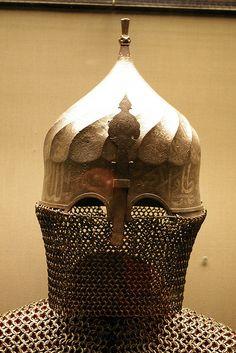 Indo-Persian turban helmet, 15th to 16th century.Philadelphia Museum of Art.