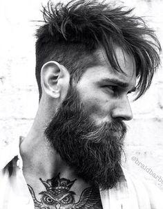 messy fade and beard