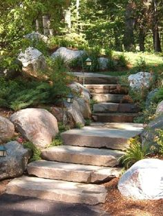 Landscaping Work, Landscaping Supplies, Landscaping With Rocks, Landscaping Software, Hydrangea Landscaping, Landscaping Contractors, Hillside Landscaping, Garden Stairs, Balcony Garden