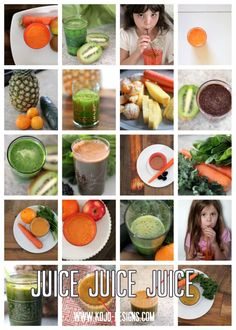 Links to various healthy juice recipes (fruits and veggie) by kojodesigns