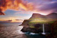 Sunset on Faroe Islands