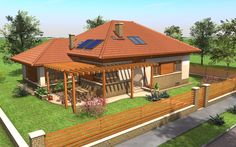 Családi ház | TÉR Stúdió - Építészeti tervezés Bamboo House Design, Tropical House Design, Bungalow House Design, Modern Bungalow, Modern Family House, Family House Plans, Dream House Plans, House Floor Plans, One Storey House