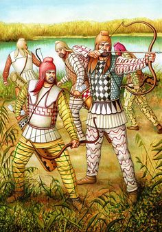 Persian archers, horseman and shield bearers century BC Ancient Aliens, Ancient History, Art History, Persian Empire Map, Persian Warrior, Achaemenid, Ancient Persian, Ancient Near East, Classical Antiquity