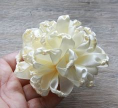 Fabric Flower Tutorial  Knotted Chrysanthemum, Ribbon - available for purchase.