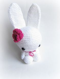 Little Things Blogged: {White Amigurumi Bunny}