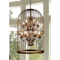 Edwards Antique Bronze and Crystal 24-inch Sphere Chandelier | Overstock.com Shopping - The Best Deals on Chandeliers & Pendants