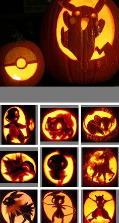 pokemon halloween pumpkin carvings