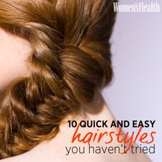 10 Quick and Easy Hairstyles You Haven't Tried | Women's Health Magazine