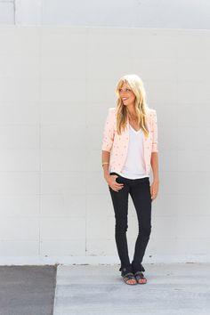 patterned blazer black jeans // smitten studio