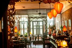 the temple club in ho chi minh city. says bon appetit magazine: take it easy on that jet-laggy first night at the dreamy, silk-lantern-lit temple club, where you can eat local classics like beef grilled on lemongrass skewers or shrimp in tamarind sauce.