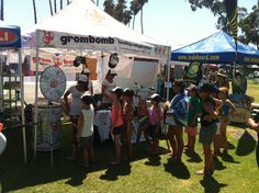 look for grombomb at your local events & come on down for a sample and spin the wheel! shaka!