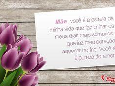Cartões para o Dia das Mães! Declare seu amor e carinho.