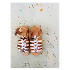 #new #entry #pink #gold #baby #handmade #real #leather #greek #sandals ❤