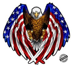American Flag Decal, American Flag Eagle, Native American, Patriotic Pictures, Eagle Pictures, Dojo, Wall Art Pictures, Print Pictures, Eagle Art