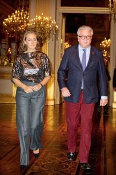 Prince Laurent and Princess Claire of Belgium attend the Fall Concert at the Royal Palace in Brussels, Belgium, 15.10.2014.