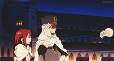 Akagami no Shirayuki-hime - Snow White with the Red Hair - Shirayuki, Zen, and Mitsuhide - The facial expressions! lol