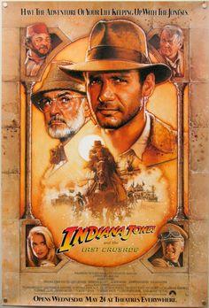 Indiana Jones Poster - 1989 - by artist Drew Struzan