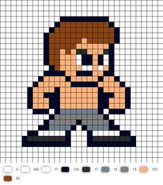 Fei Long Street Fighter 2 Perler Bead Pattern