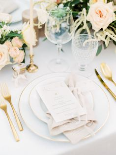Italy wedding in Tuscany. Wedding details, plate and menu. Gold Details Fine Art Film Photographer. Destination Wedding Photography. Kristine Herman Photography. See more at: http://www.kristineherman.com/blog/romantic-tuscany-italy-inspiration