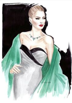 Illustration by: Lena Ker Fashion Illustration Vintage, Woman Illustration, Illustration Sketches, Fashion Illustrations, Illustration Example, I Love Fashion, Fashion Art, Fashion Beauty, Fashion Show