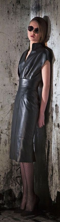 Leather Skirt w Leather Top